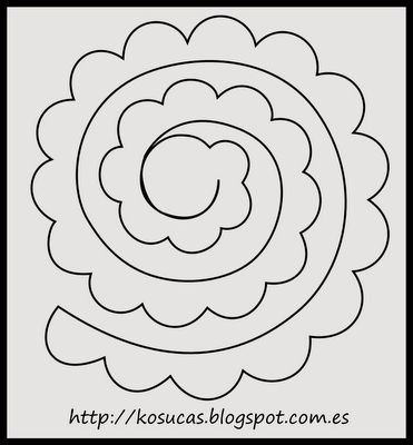 rolled paper roses template - flores de eva 54 ideias e passo a passo para voc