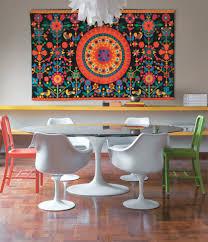 quadros coloridos para sala de jantar