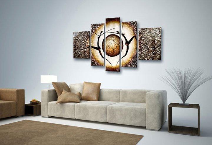 Quadros para sala 70 estilos lindos para voc se inspirar - Decoracion con cuadros grandes ...