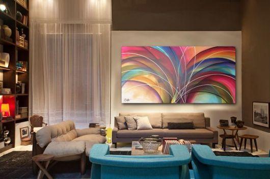 Quadros Florais Para Sala De Estar ~ Quadros para sala  70 estilos lindos para você se inspirar