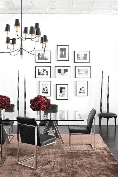 quadros para sala de jantar preto e branco