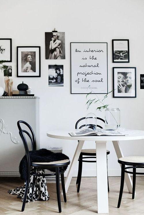 quadros para sala de jantar preto e brancoo