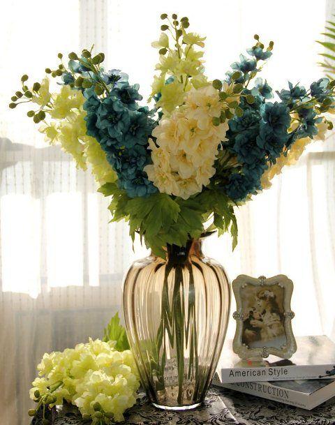 Arranjos de mesa de jantar flores amarelas