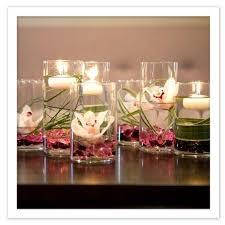 Arranjos de mesa para festa com velas