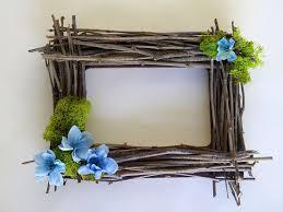 Artesanato em madeira rústica como porta retrato