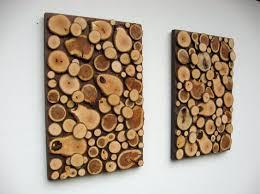 Artesanato em madeira rústica na parede
