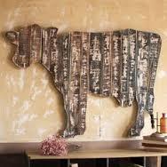 Artesanato em madeira rústica para fazenda