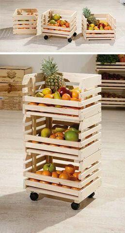 Artesanato em madeira reciclada com caixas