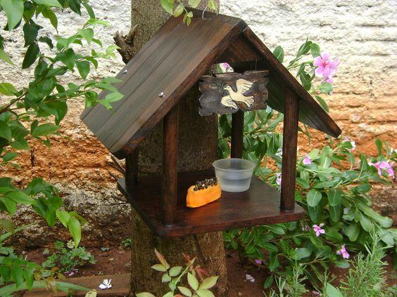 Artesanato em madeira reciclada para jardim
