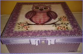 Artesanato em mdf com tecido com corujas