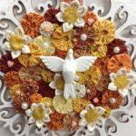 Artesanato em mdf com tecido e flores