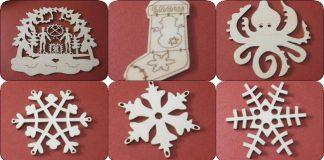Artesanato em mdf natal ornamentos