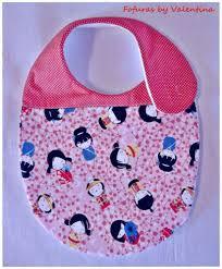 Artesanato em tecido para bebe babador