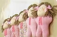 Artesanato em tecido para bebe bonequinhas