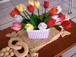 Artesanato em tecido para cozinha com flores