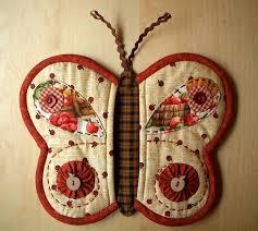 Artesanato em tecido para cozinha como borboleta