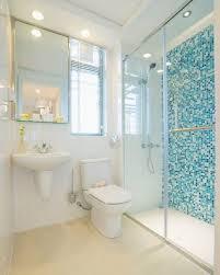 Cerâmica para banheiro azul granulado