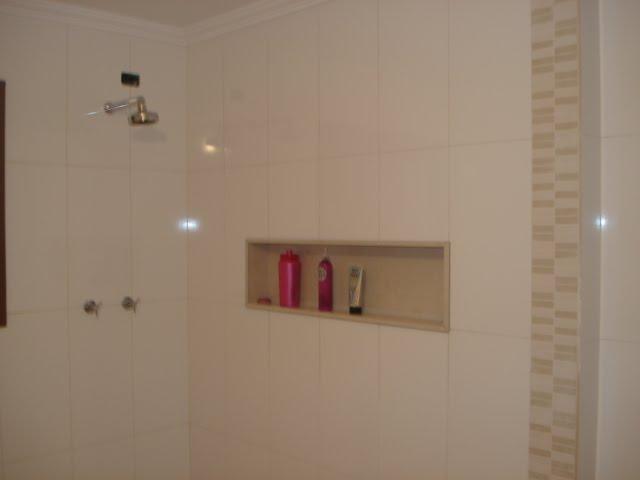 Cerâmica para banheiro  30 modelos incríveis para você [ Fotos ] -> Nicho Banheiro Cerâmica