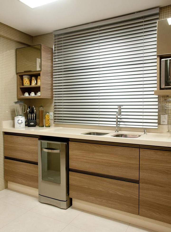 Cortinas para cozinha com persiana