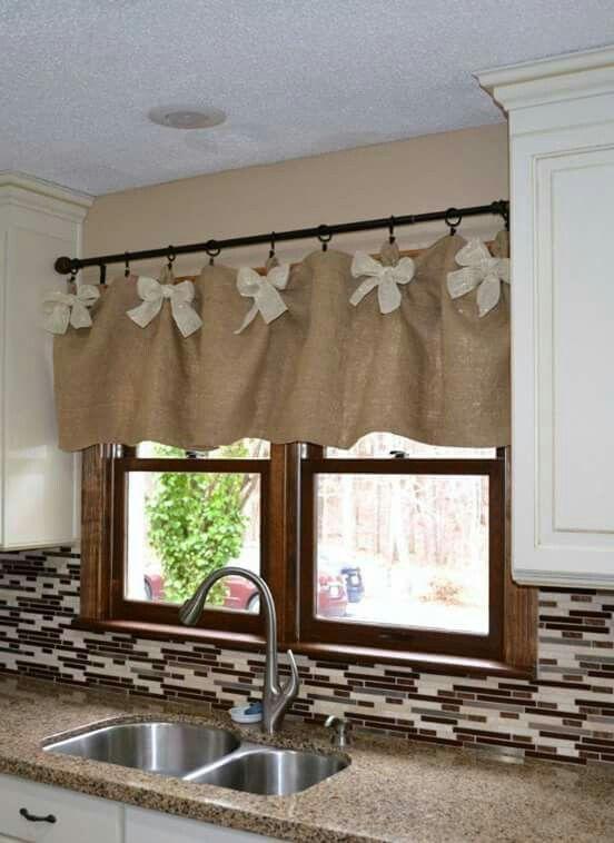 Cortinas para cozinha rustica marrom