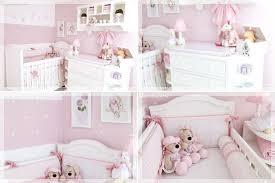 Decoração de quarto de bebê feminino em rosa
