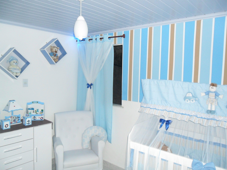 Decoração de quarto de bebe masculino com nichos