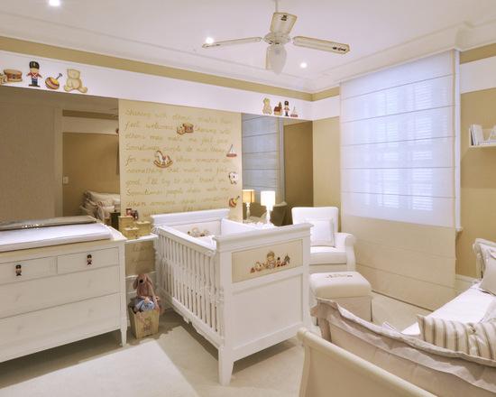 Decoração de quarto de bebe masculino com palavras na parede