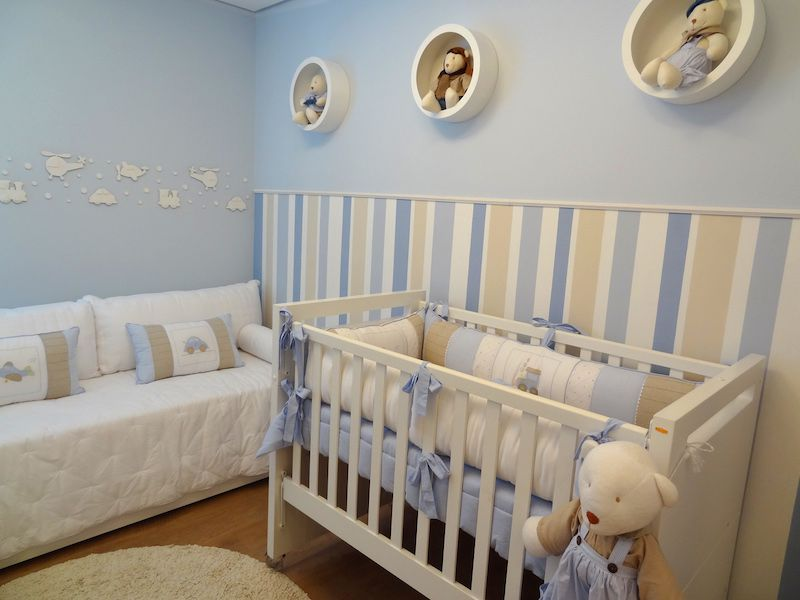 Decoração de quarto de bebe masculino em azul