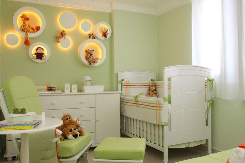 Quarto de bebê masculino verde