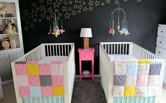 Decoração de quarto de bebe simples com estrelas