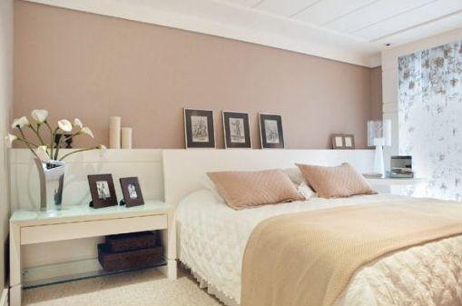 Decoração de quarto de casal com iluminação
