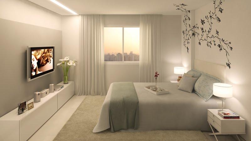 Decoração de quarto de casal com pouco dinheiro branco
