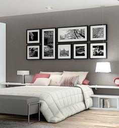 Decoração de quarto de casal com pouco dinheiro e porta retratos