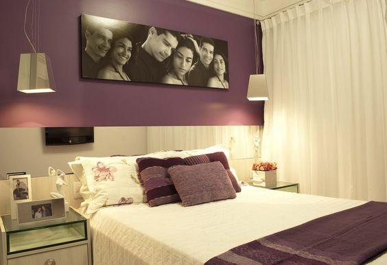Decoração de quarto de casal com quadros