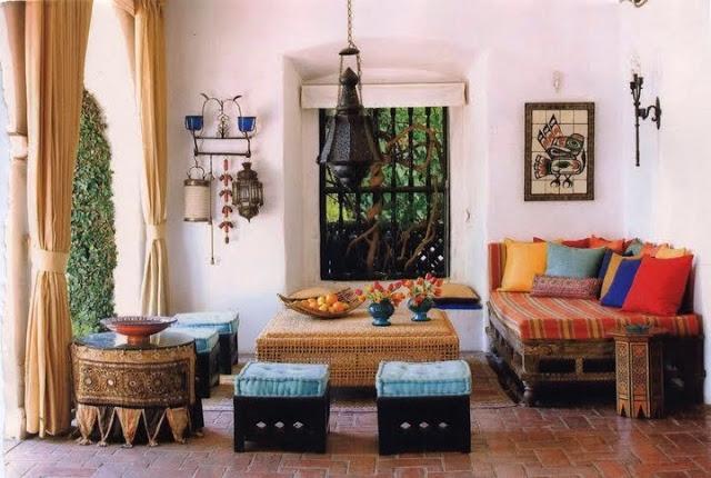 Decoração de sala indiana com vimi