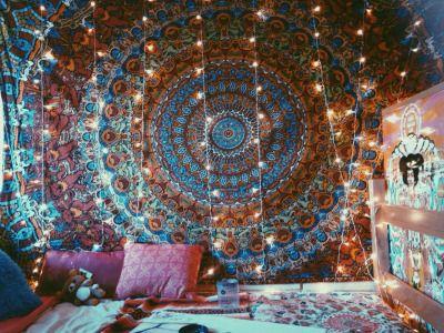 Decora o indiana 20 ideias incr veis que v o mudar sua casa fotos - Hippie zimmer ...