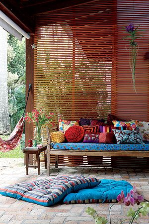 Decoração indiana na varanda
