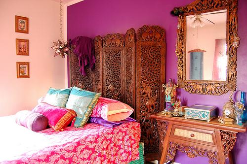 Decoração indiana para quarto