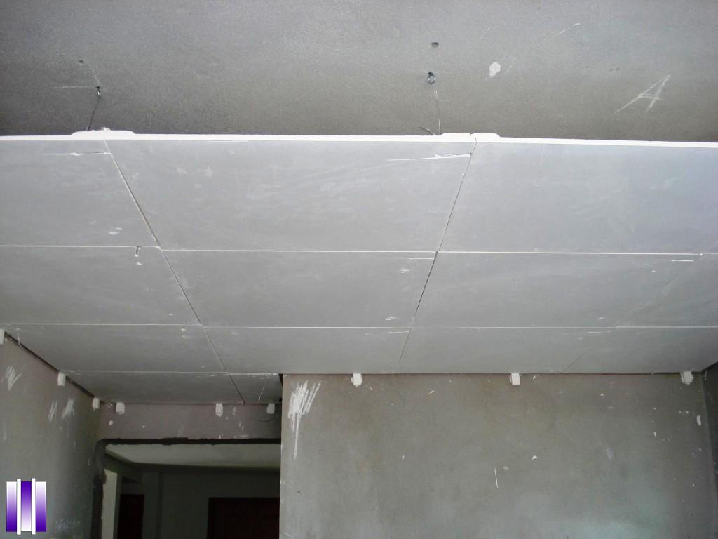 Forro de gesso acartonado drywall