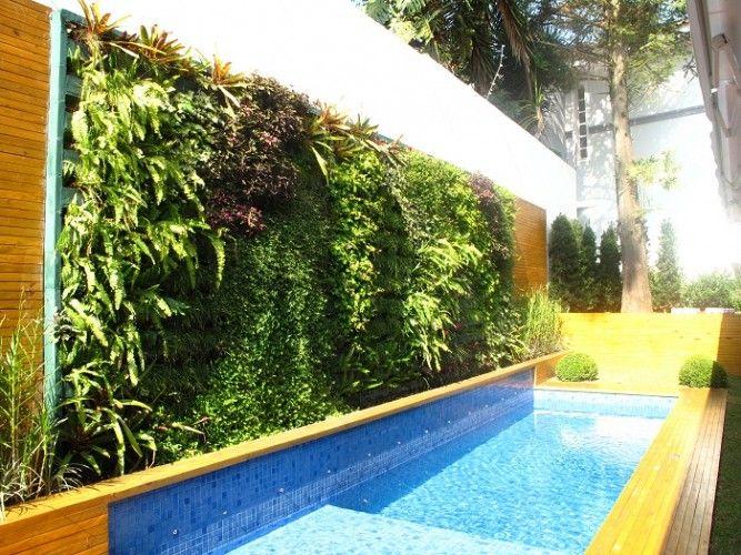 Jardim vertical piscina
