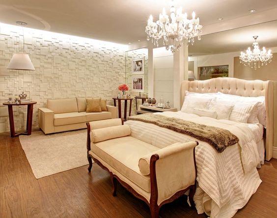 Lustre para quarto de casal bem iluminado