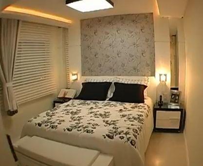Lustre para quarto de casal colado no teto