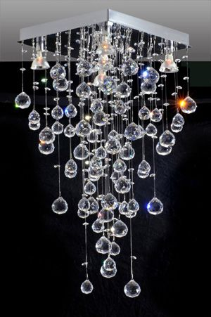 Lustres para sala de jantar barato com cristais