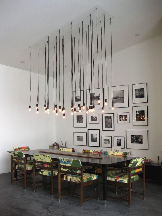 Lustres para sala de jantar barato simples