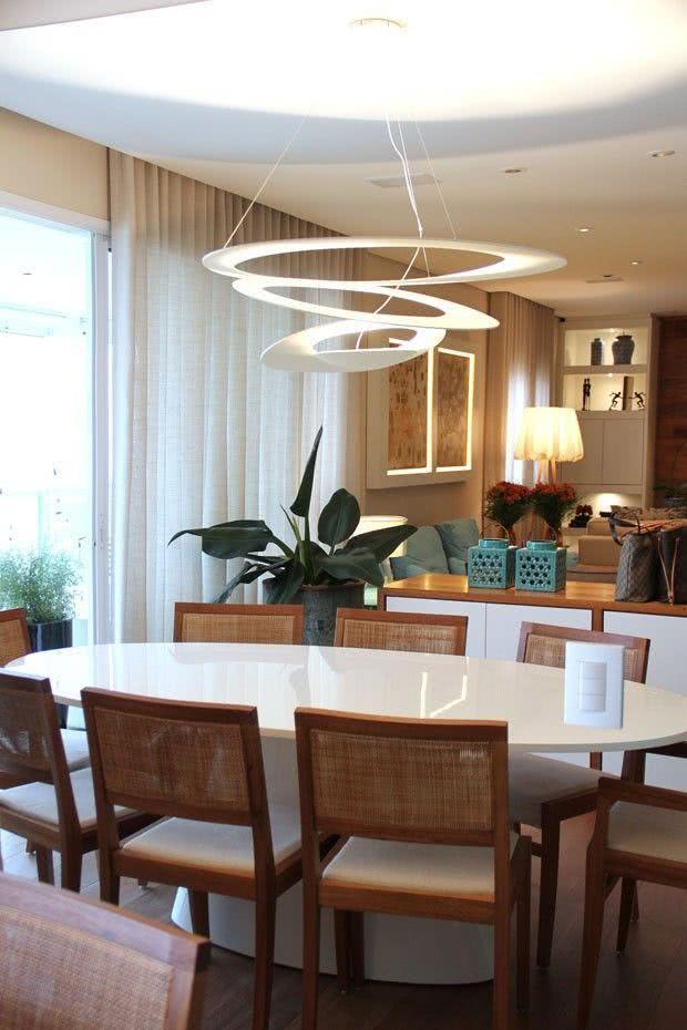 Lustres para sala de jantar moderno
