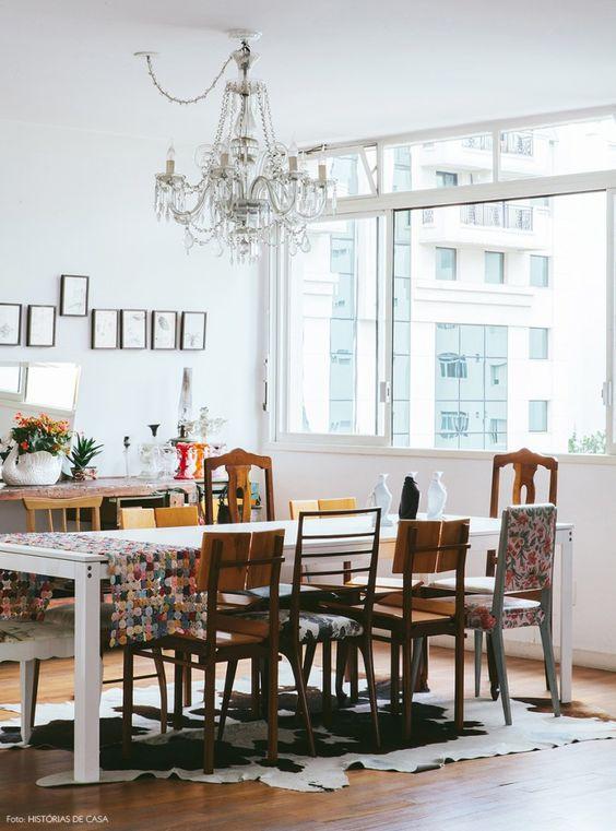 Lustres para sala de jantar pequena detalhado
