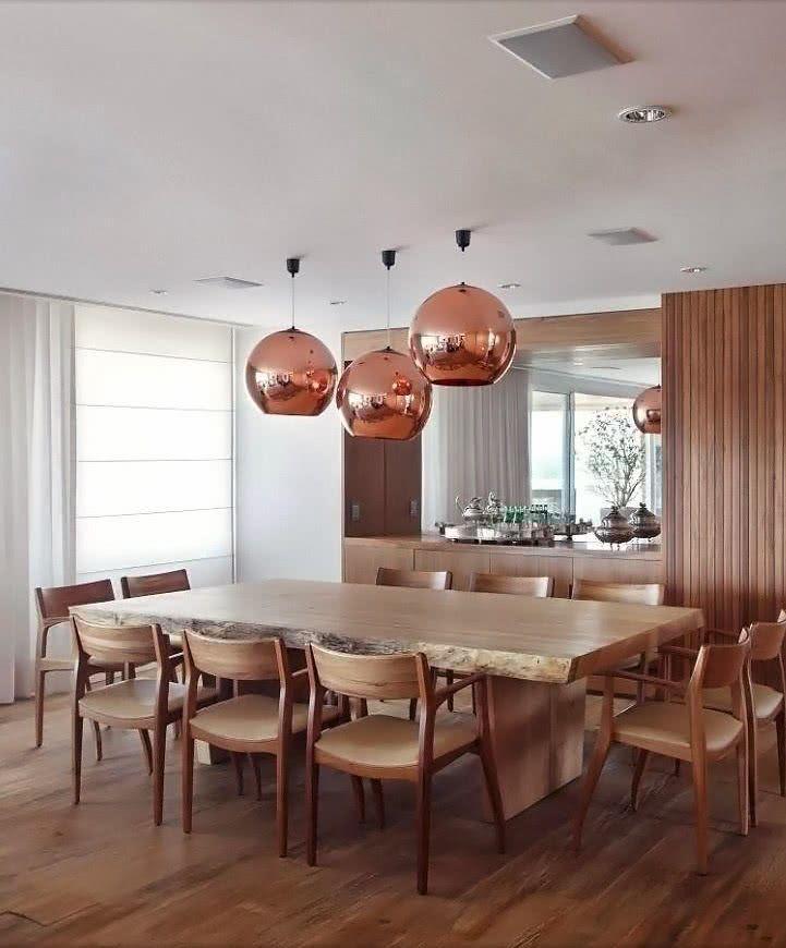 Lustres para sala de jantar simples