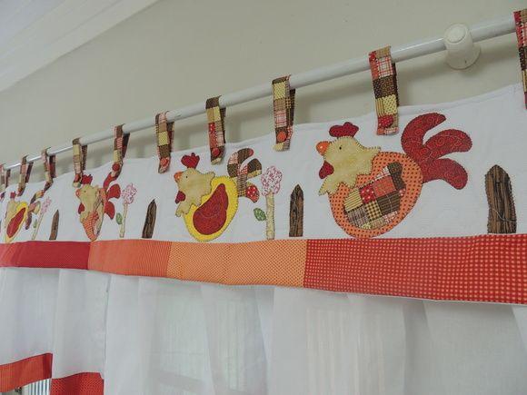 Moldes de cortinas para cozinha em patchwork