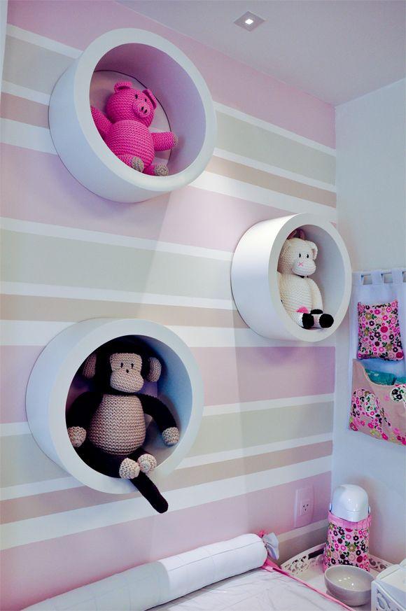 Nichos para quarto de bebê redondo