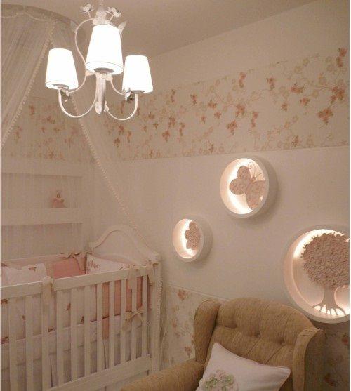 Nichos para quarto de bebê rosa